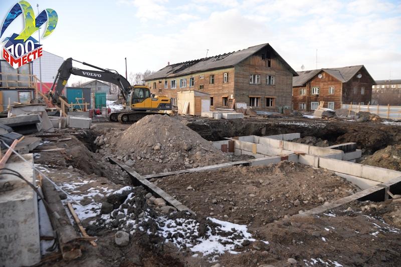 В Мурманске началось строительство 4 социальных домов на 108 квартир