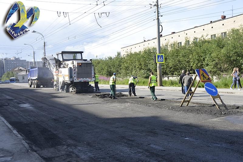 Дорожные работы в Мурманске идут с опережением графика