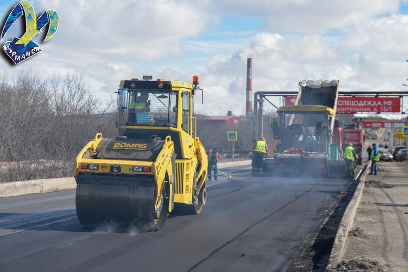 За лето в Мурманске отремонтируют  200 тысяч квадратных метров дорог